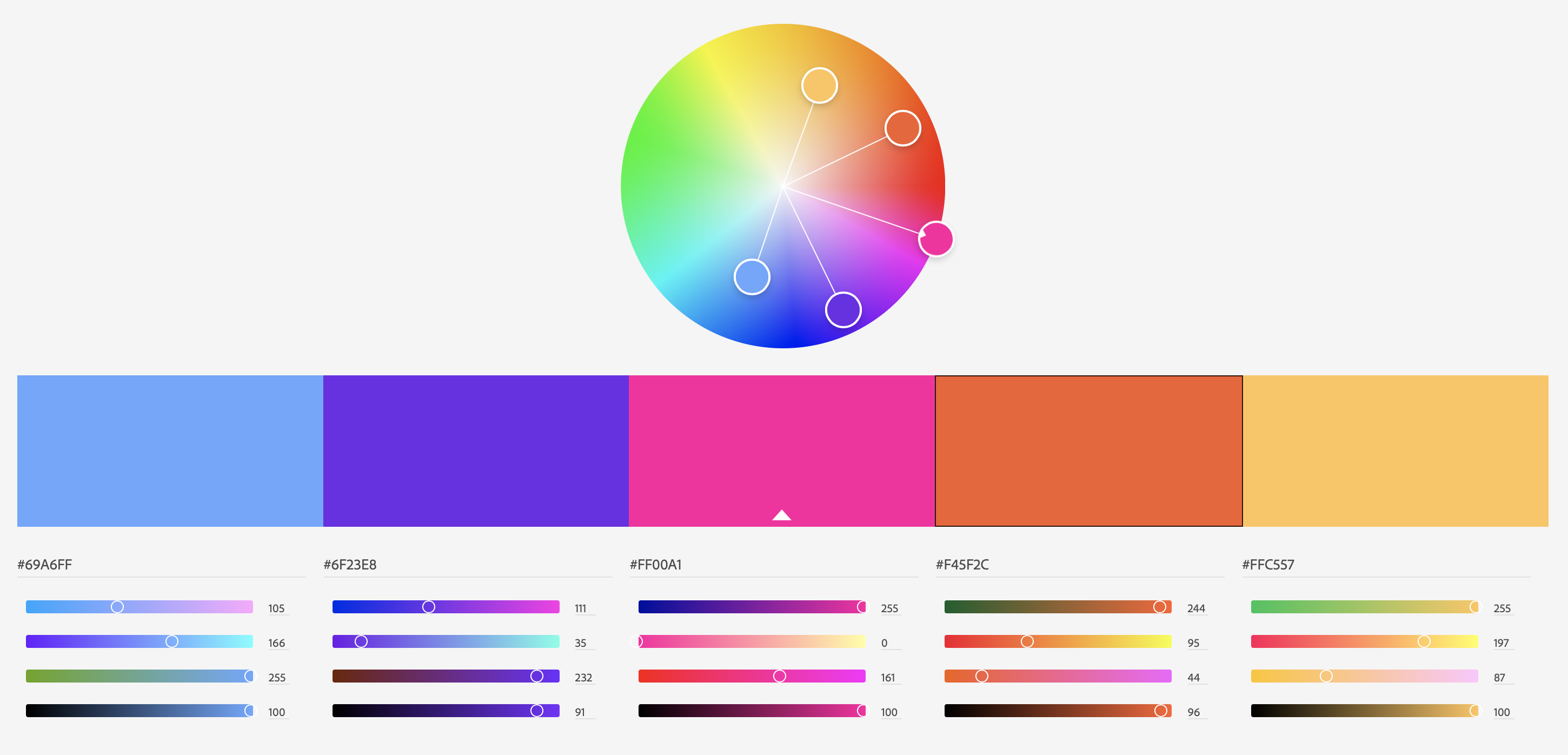Palette from color.adobe.com