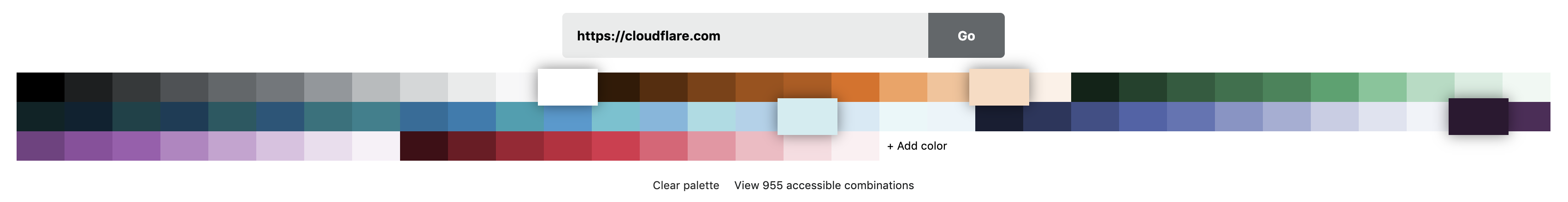 Importing a color palette from a URL